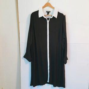 Lane Bryant long sleeve collard shift dress